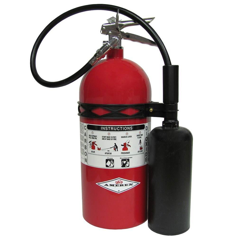 Amerex 415 Fire Extinguisher, Dry Chemical Purple K Potassium Bicarbonate, 20 lbs, 120B:C, Steel Cylinder