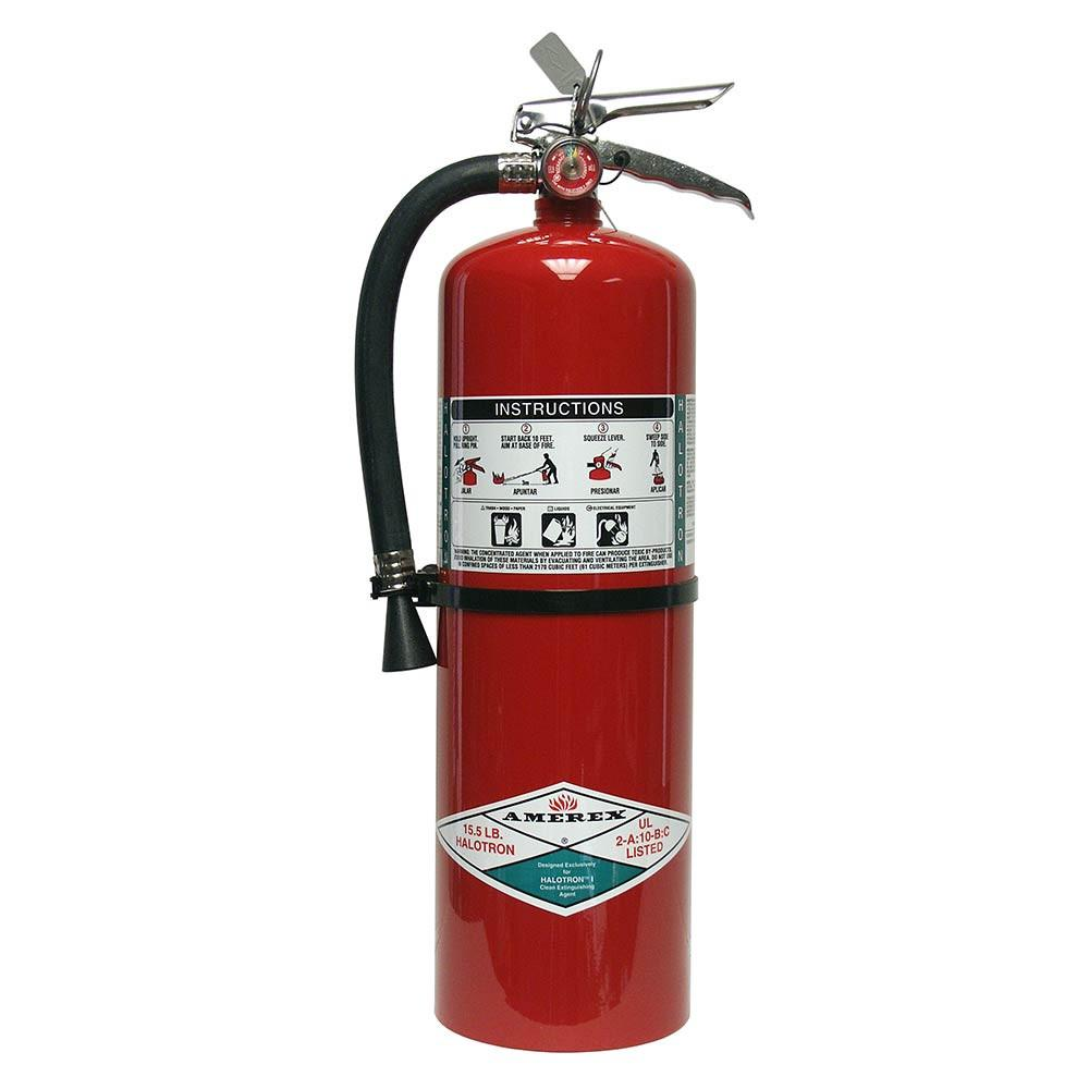 Amerex 322 Fire Extinguisher, Carbon Dioxide, 5 lbs, 5B:C, Aluminum Cylinder