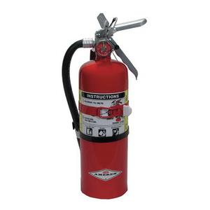 Amerex B500T Fire Extinguisher, Dry Chemical Monoammonium Phosphate, 5 lbs, 2A:10B:C, Steel Cylinder