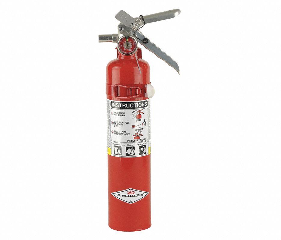 Amerex B456 Fire Extinguisher, Dry Chemical Monoammonium Phosphate, 10 lbs, 4A:80B:C, Steel Cylinder