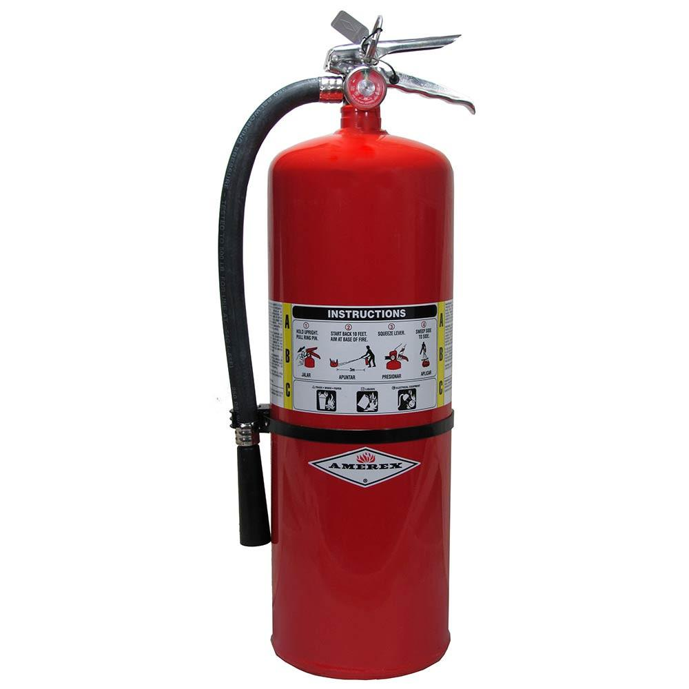 Amerex 330 Fire Extinguisher, Carbon Dioxide, 10 lbs, 10B:C, Aluminum Cylinder