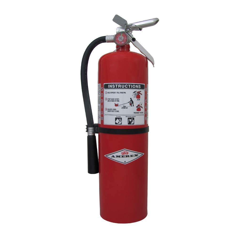Amerex B423 Fire Extinguisher, Dry Chemical Monoammonium Phosphate, 20 lbs, 10A:120B:C, Steel Cylinder