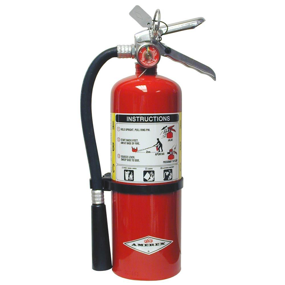 Amerex B417T Fire Extinguisher, Dry Chemical Monoammonium Phosphate, 2.5 lbs, 1A:10B:C, Steel Cylinder