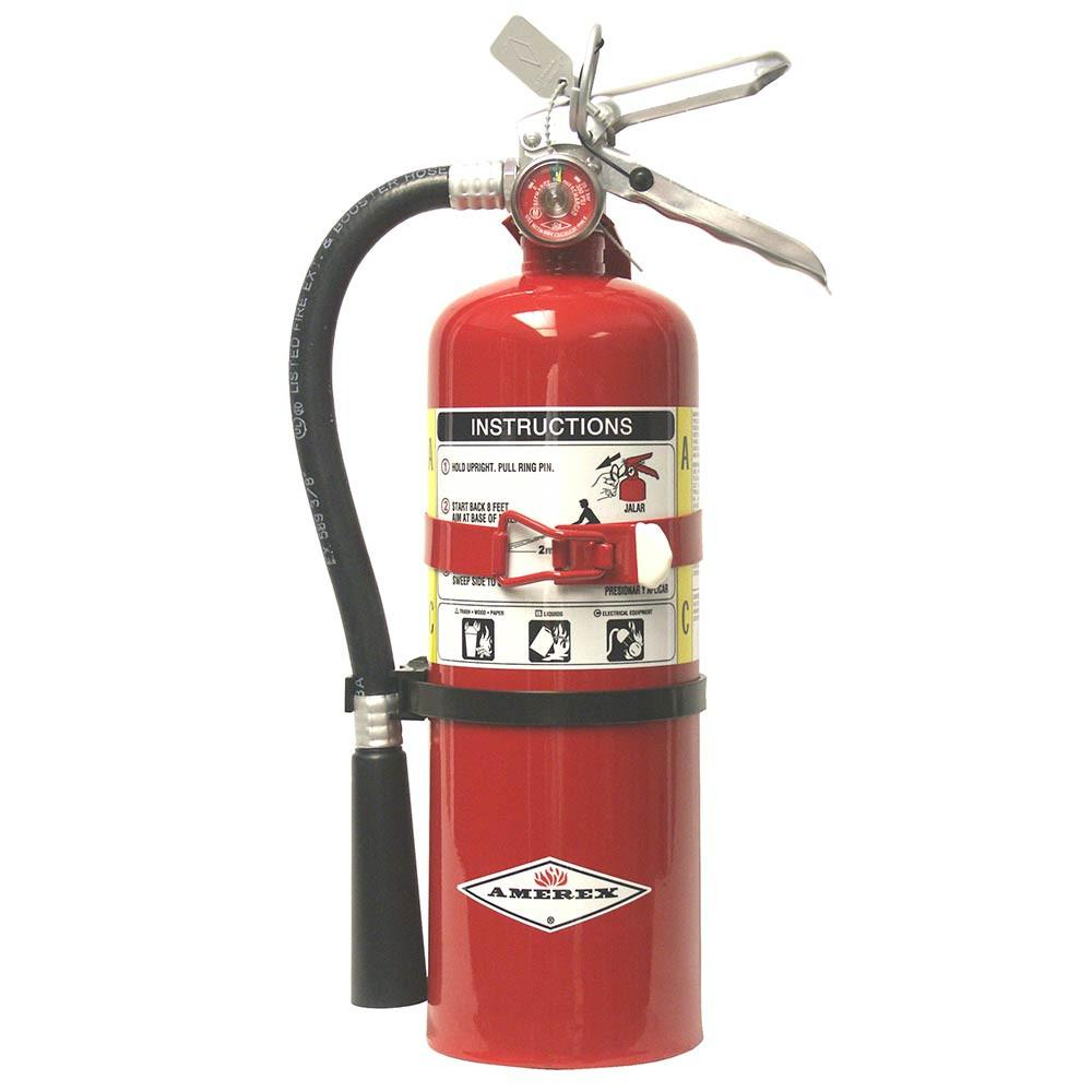 2.5 Pound ABC Rechargeable Fire Extinguisher with Bracket