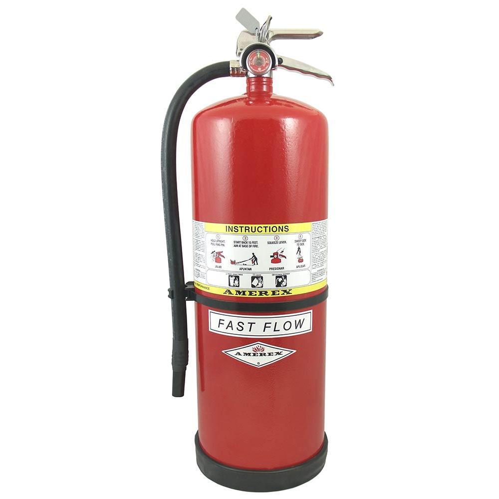 Amerex 807 Fire Extinguisher Bracket, Dry Chemical, Heavy Duty Box, 5 lbs, Steel, Black