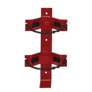 Amerex 817 Fire Extinguisher Bracket, Dry Chemical, 2.5 lbs, Steel, Red