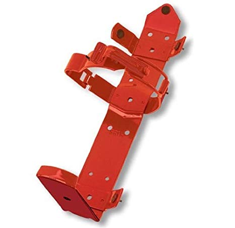 Amerex 862 Fire Extinguisher Bracket, Dry Chemical, Heavy Duty Strap Style , 13 lbs, Steel, Red