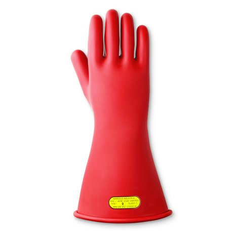 Marigold® M60606 Protective Gloves, SZ 11, Grain Goatskin Leather Palm, Light Gray, 10 in L, ASTM Class: Class 0/00
