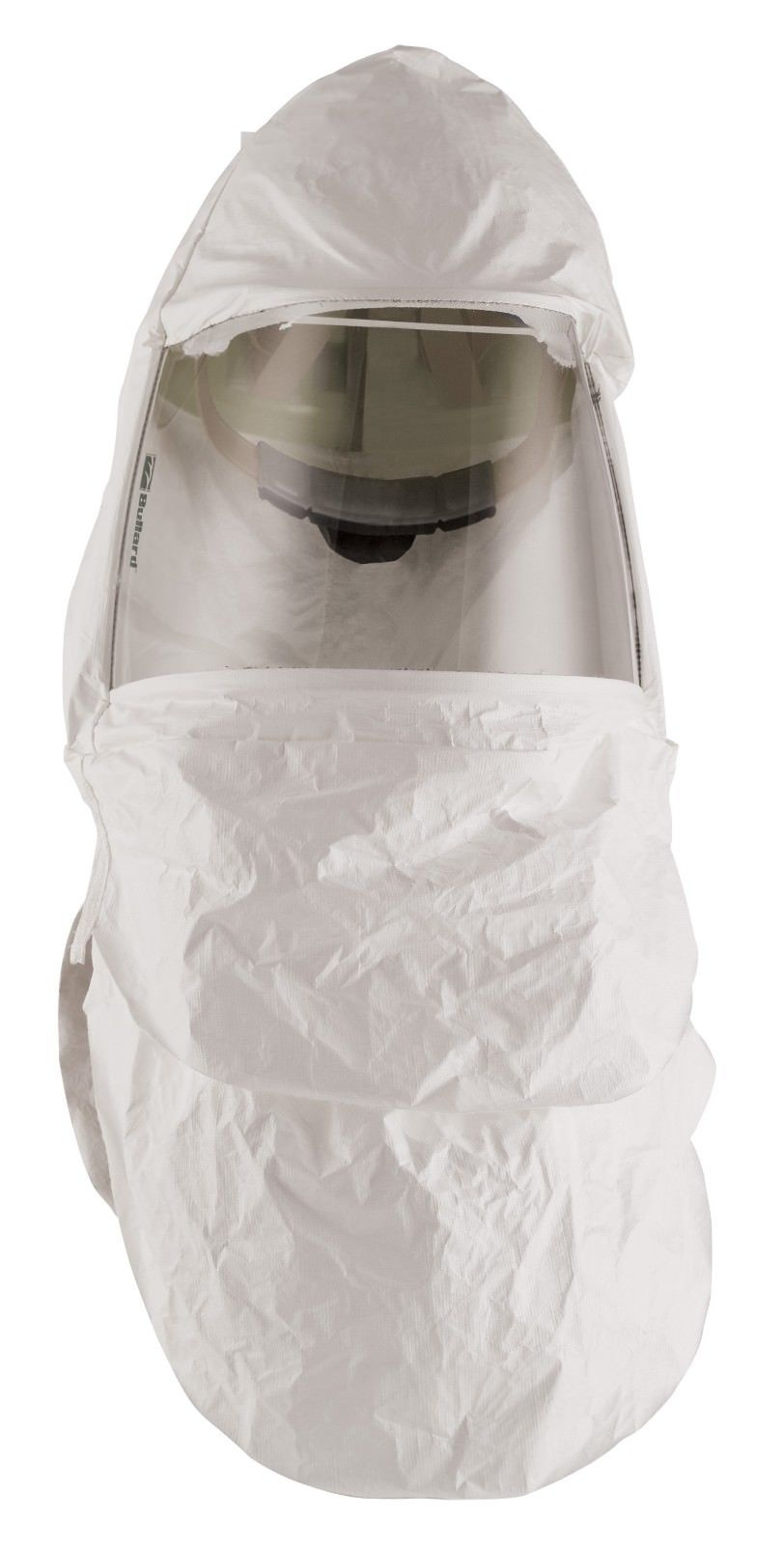 Bullard® 20TIC Double Bib Respirator Hood With Headband and Suspension, For Use With CC20 Series Supplied Air Respirator and EVA, EVAHL, PA20, PA30 or PA30IS Series Powered Air Respirator, White