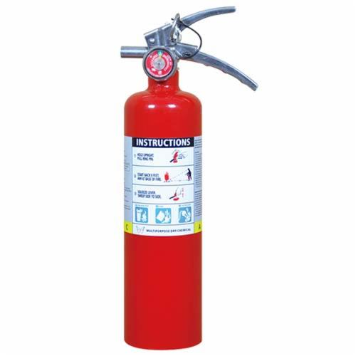 Diamond M DM-FR30305 Fire Extinguisher, Multi-Purpose, Dry Chemical, 5 lbs, Class A B C, 3A:40B:C UL Rating, Powder Coated Steel Cylinder