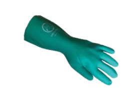 Diamond M DM-GL42200 Chemical Resistant Gloves, Large, PVC, Black