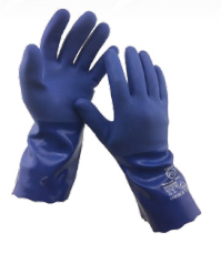 Diamond M DM-GL42112 Chemical Resistant Gloves, Large, PVC, Black