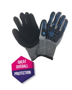 Diamond M DM-GL10100 8 oz Cotton Canvas Gloves, Large, Natural