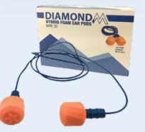 Diamond M, DM-HP40200-Basic, Headband Ear Muff, Ultra Lightweight, 23 db, Blue/Black, Multi-Position