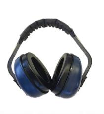 Diamond M, DM-HP40310-Deluxe, Headband Ear Muff, Dielectric, 28 db, Blue/Black