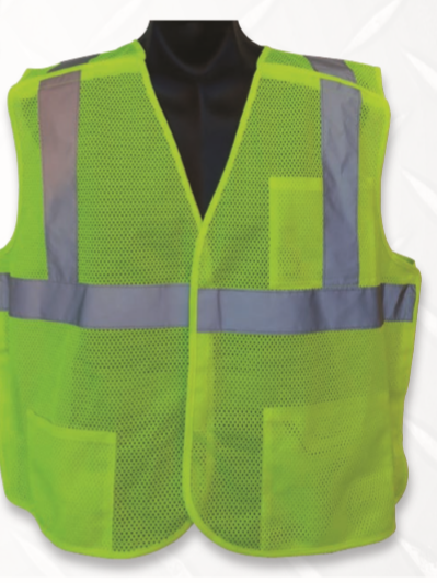 Diamond M, DM-RF20100, 20100 Series Vest, Non-Rated,Universal Size, Lime Green