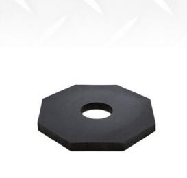 Diamond M DM-TC20320 Traffic Safety Cone, Wide Body, 12 in H, Orange Cone, Black Base, 1.5 lbs Weight