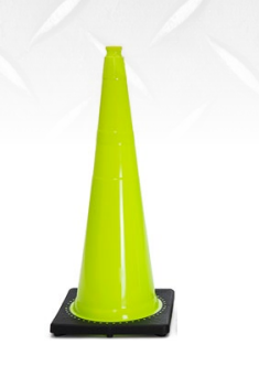 Diamond M DM-TC20324 Traffic Safety Cone, Wide Body, 28 in H, Orange Cone, Black Base, 7 lbs Weight