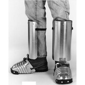 Ellwood Safety 401-5.5 Combination Foot-Shin Guard With Side Shield, Rubber Toe Clip, Large, Men's, Aluminum Alloy, Silver