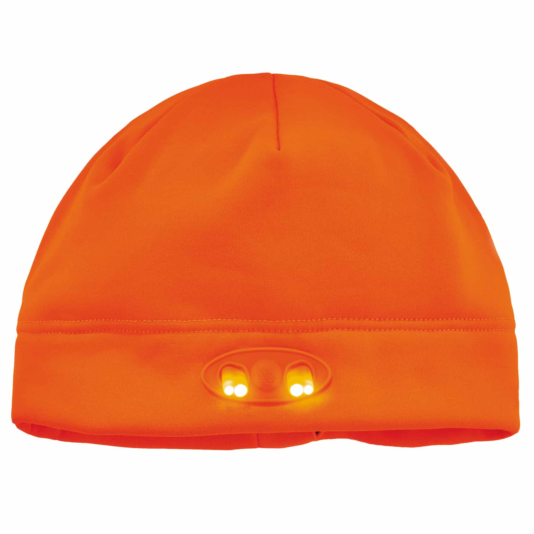 N-Ferno® 16803 6804 Skull Cap Beanie Hat with LED Lights, Compression Fit, Fleece, Black