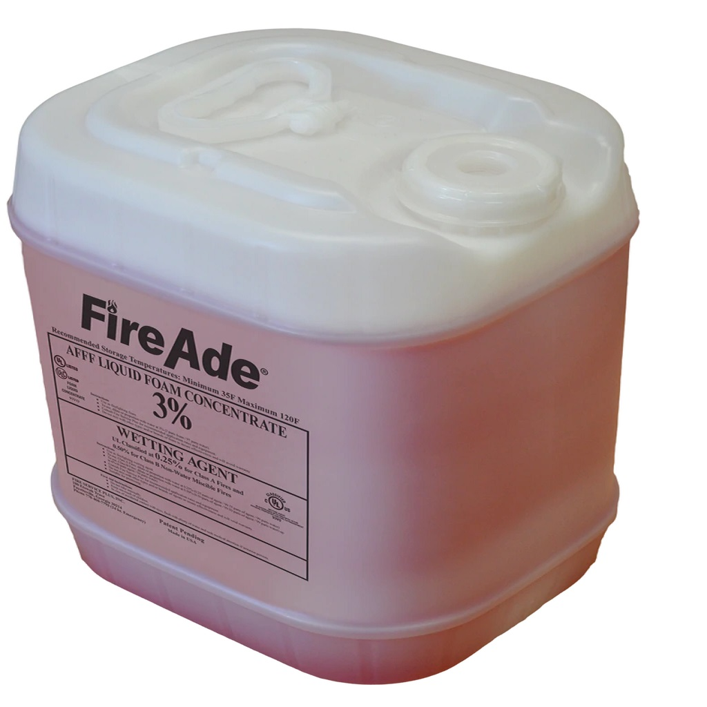 FireAde® FA2-005 2000 Plus Class A/B Foam Concentrate, Liquid, 50 gal Pail, Clear Light Red