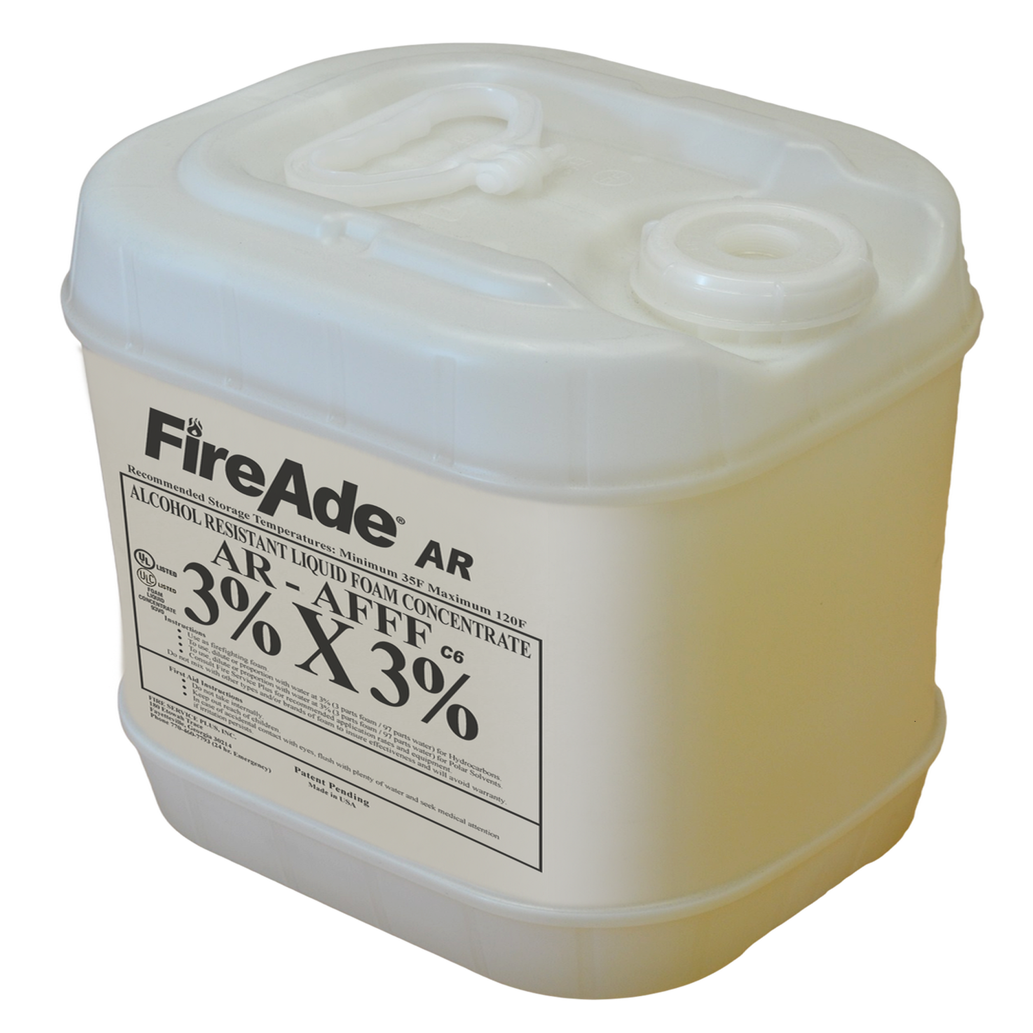 FireAde® FA2-A-005 Class A Foam Concentrate, Liquid, 50 gal Pail, Clear Light Red