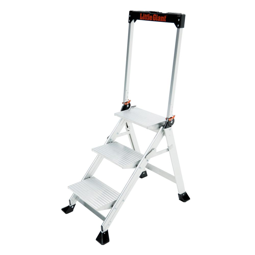 Little Giant® 11902 Jumbo Step 2-Step Stool, 24 in, 375 lbs, Aluminum