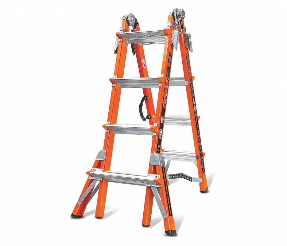 Little Giant® 15131-001 Select Step 6 - 10 ft Step Ladder, 375 lbs, IAA ANSI, Fiberglass