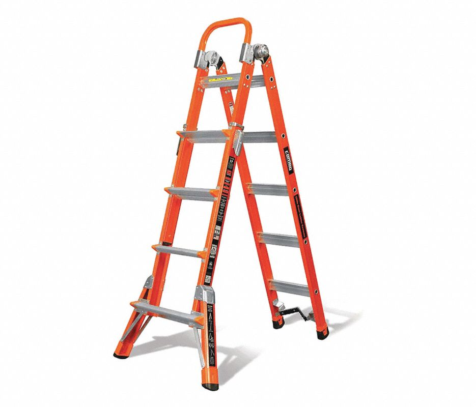 Little Giant® 15147-001 Dark Horse Articulating Ladder, Multipurpose, 15 ft, 300 lbs, IA ANSI, Fiberglass