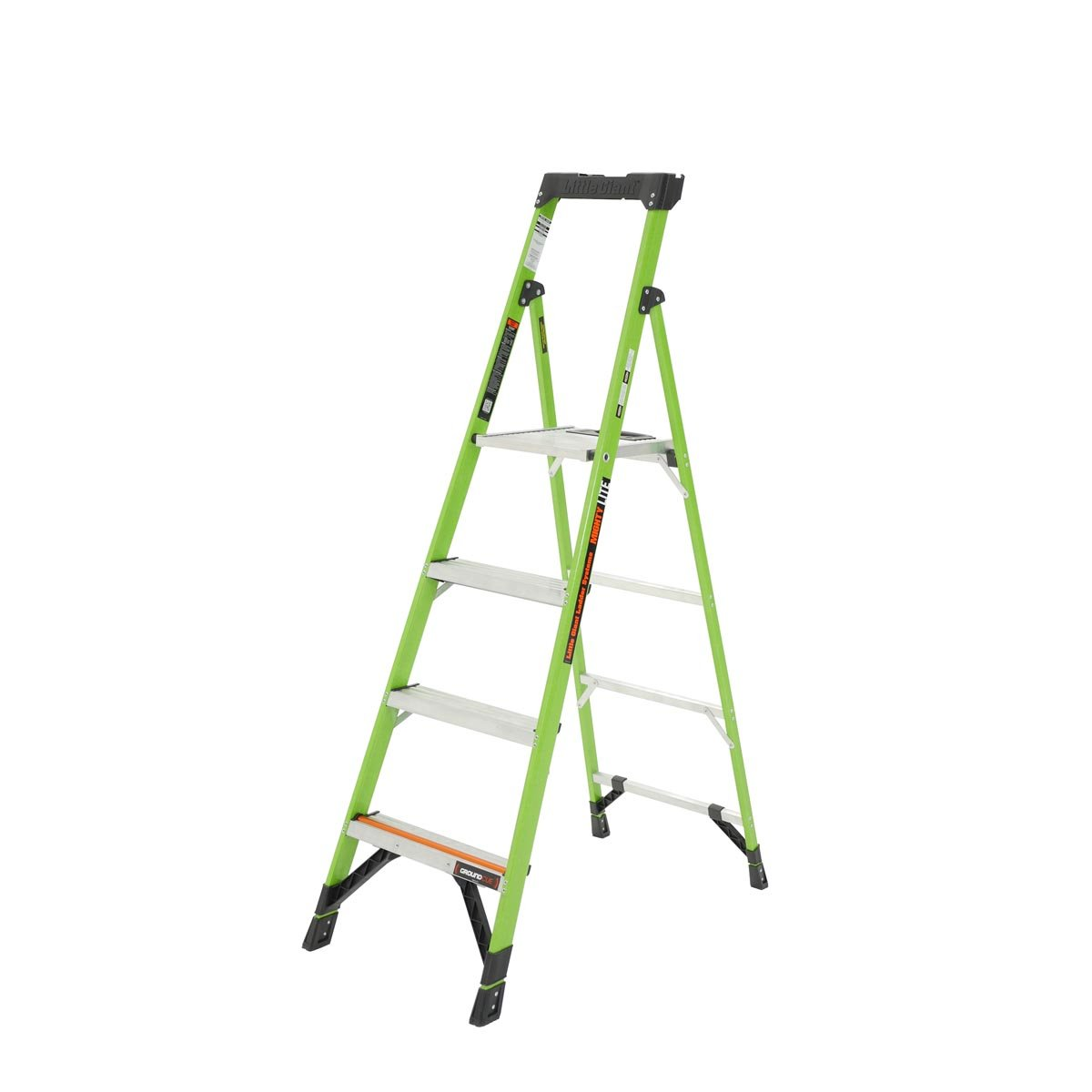 Little Giant® 15366-001 MightyLite 6 ft Step Ladder, 6 ft, 300 lbs, IA ANSI, Fiberglass