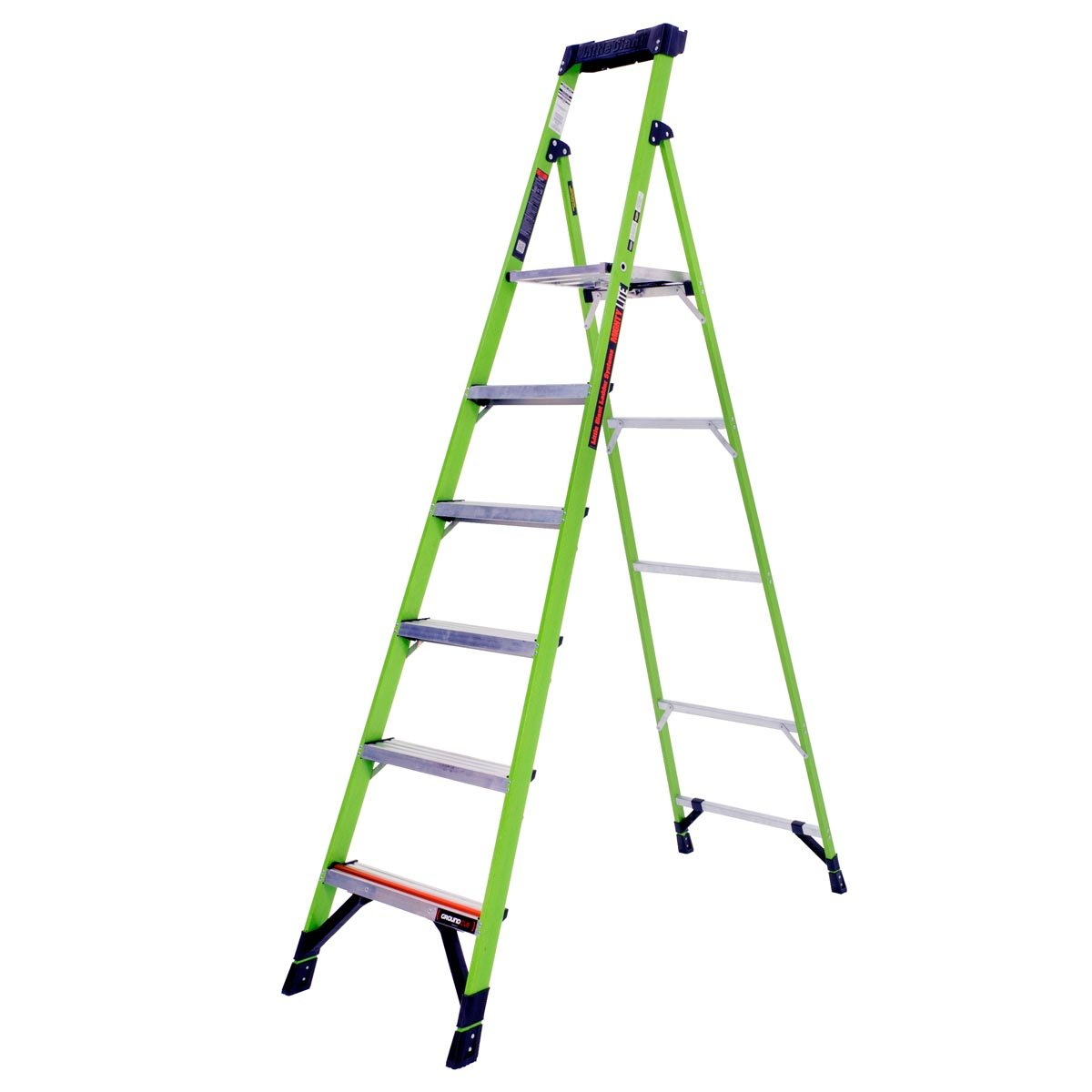 Little Giant® 15386-001 MightyLite 6 ft Step Ladder, 375 lbs, IAA ANSI, Fiberglass