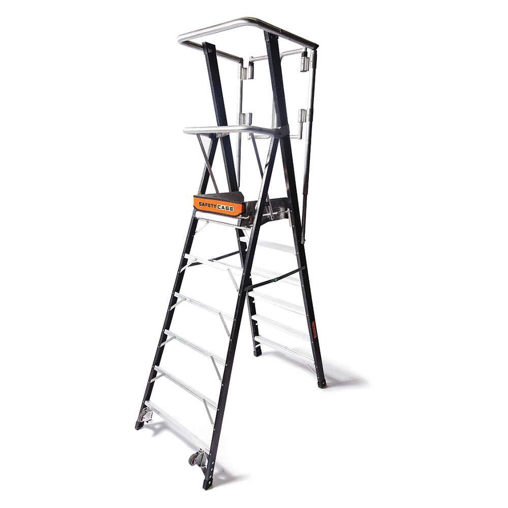 Little Giant® 15710-001 Microburst Platform 7-Step Ladder, 8 ft, 300 lbs, IA ANSI, Fiberglass