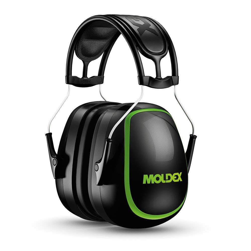 Moldex® 6120 MX-5 Ear Muff, Premium Lightweight, 27 dB, Stainless Steel Headband, Blue, ANSI S3.19-1974