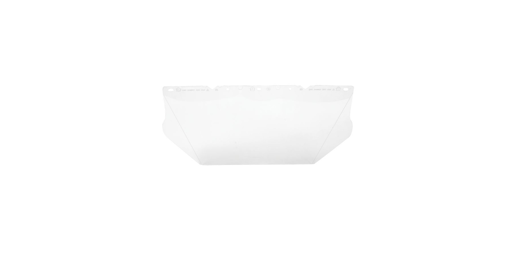 V-Gard® 10115836 Contoured Faceshield Visor, Clear, Polycarbonate, 8 in H x 17 in W x 0.04 in THK Visor, For Use With V-Gard® Frames and Headgears, Specifications Met: ANSI/ISEA Z87.1-2010, CSA Z94.3, EN 166 (2C-1.2 MSA 1B), AS/NZS 1337