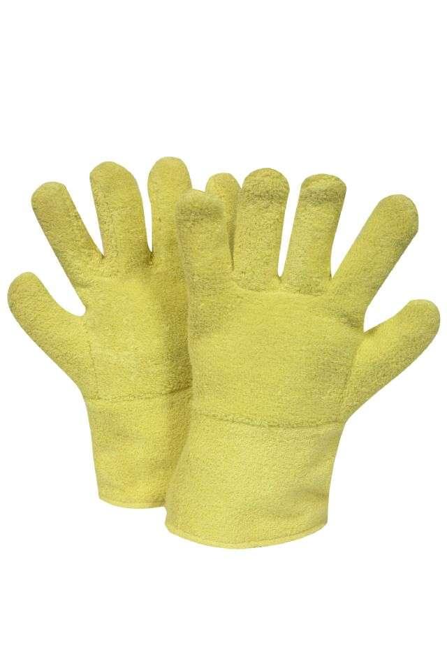 National Safety Apparel® G45KTNS14007 G45KTNS Series Heat Resistant Gloves, Jumbo, 20 oz DuPont Kevlar Terrycloth Palm, Yellow, Wool Lining