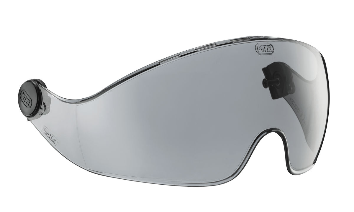 Petzl® A15A Vizir Eye Shield, Clear, Polycarbonate, 8-1/2 X 3-1/2 X 0.08 in, For Vertex and Alveo Helmets, ANSI Z87.1-2010, CE EN 166, 1B