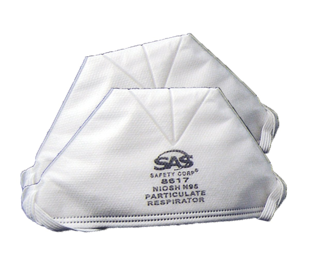 SAS® 8611 Latex Free Particulate Respirator With Exhalation Valve, Universal, Resists: Non-Oil