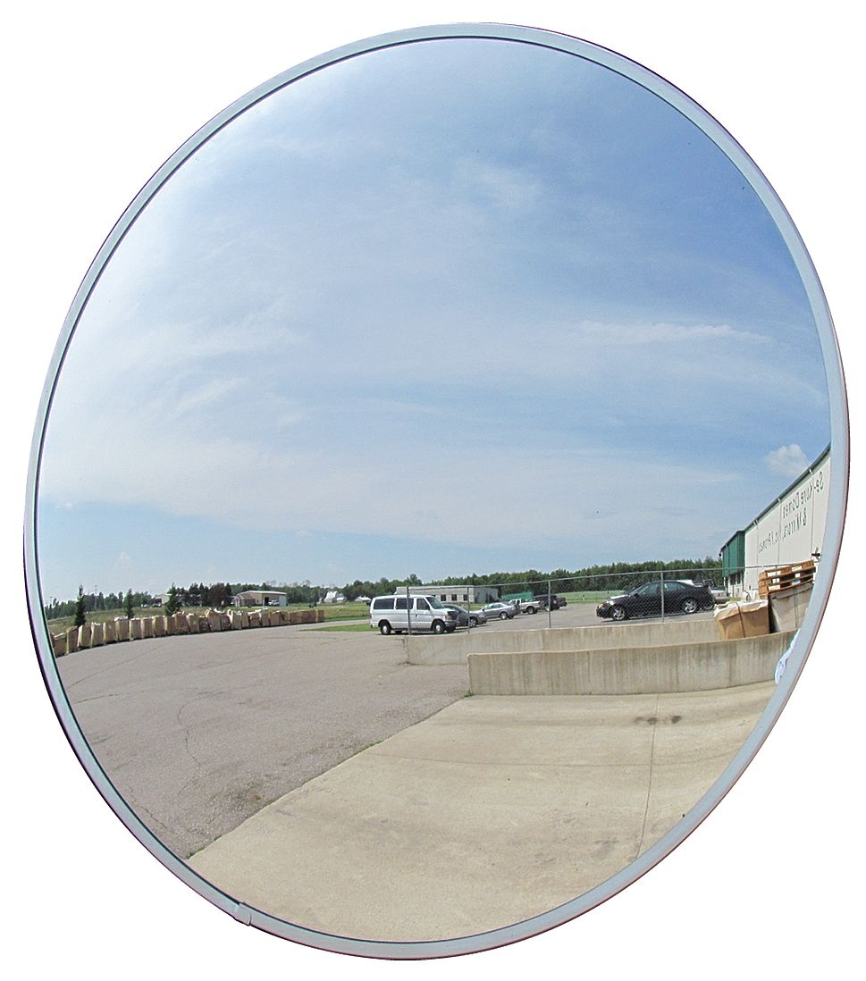 Se-Kure DCVO18TPB 18 in Outdoor Convex Mirror, Acrylic Lens, Plastic Backing