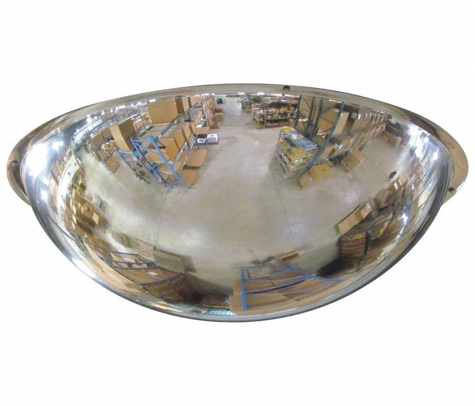 Se-Kure ONV-180-32 180 deg Dome Mirror, Half Dome, 32 in, Acrylic Lens