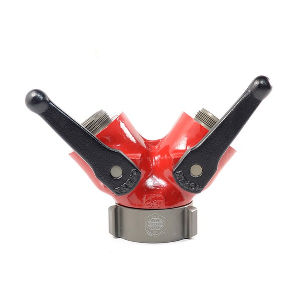 S&H Fire Products WV-1NP-1NP Gated Wye Valve, 1 in FNPSH X 1 in MNPSH, 600 psi, Powder Coated/Corrosive Resistant Aluminum