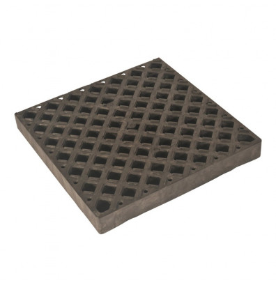 UltraTech 0420 Ultra-Spill Pallet Replacement Grate, 4 ft L X 2 ft W, Polyethylene, Black