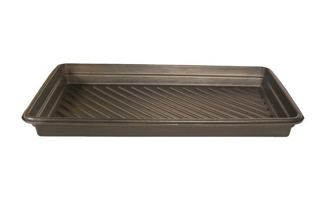UltraTech 1031 Ultra-Utility Tray, 5 in H X 16-1/2 in L X 52-1/4 in W, Polyethylene, Black, 12 gal Spill Capacity