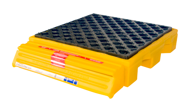 UltraTech 1230 Ultra-Spill Pallet P4, Nestable Model Without Drain, 10 in H X 51 in L X 51 in W, LLDPE, Yellow