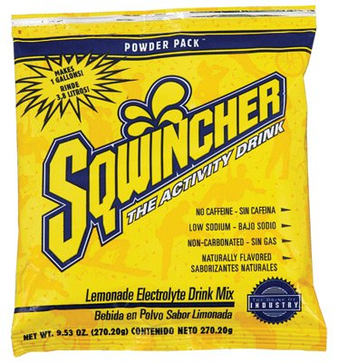 Sqwincher® 015501-FP Fast Pack® Zero Sports Drink Mix, 0.6 oz Pack, 6 oz Yield, Liquid Form, Fruit Punch