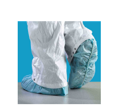 Techtrue TECHT-SHOTRUE16PLW TECHT-SHOTRUE16PL Series Shoe Cover, Non-Woven, Lint-Free, 16 in LG X 6 in HT, CPE (Polylatex) Outsole, White, Latex Elastic Latex Elastic