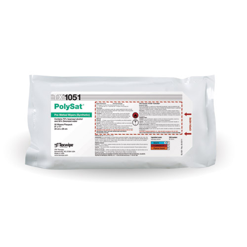 Texwipe® TX1050 Vectra¿¿ AlphaSorb¿¿ 10 Cleanroom Wipe, Dry, 9 X 9 in, Polyester