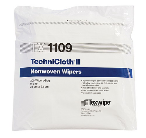"""Texwipe® TX1084 Vectra® QuanSatâ""""¢ Cleanroom Wipe, Pre-Wetted, 9 X 9 in, Polyester"""