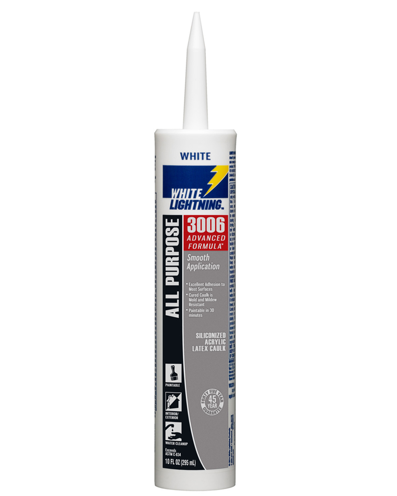 White Lightning® W11121010 All Purpose Sealant, 10 oz Cartridge, Clear
