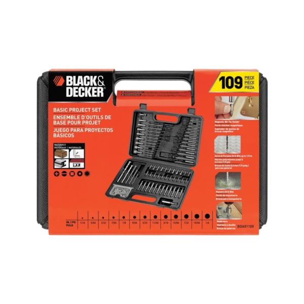 NEW BLACK DECKER BDA91109 109 PIECE ASSORTED DRILL BIT TOOL SET /& CASE 3875333