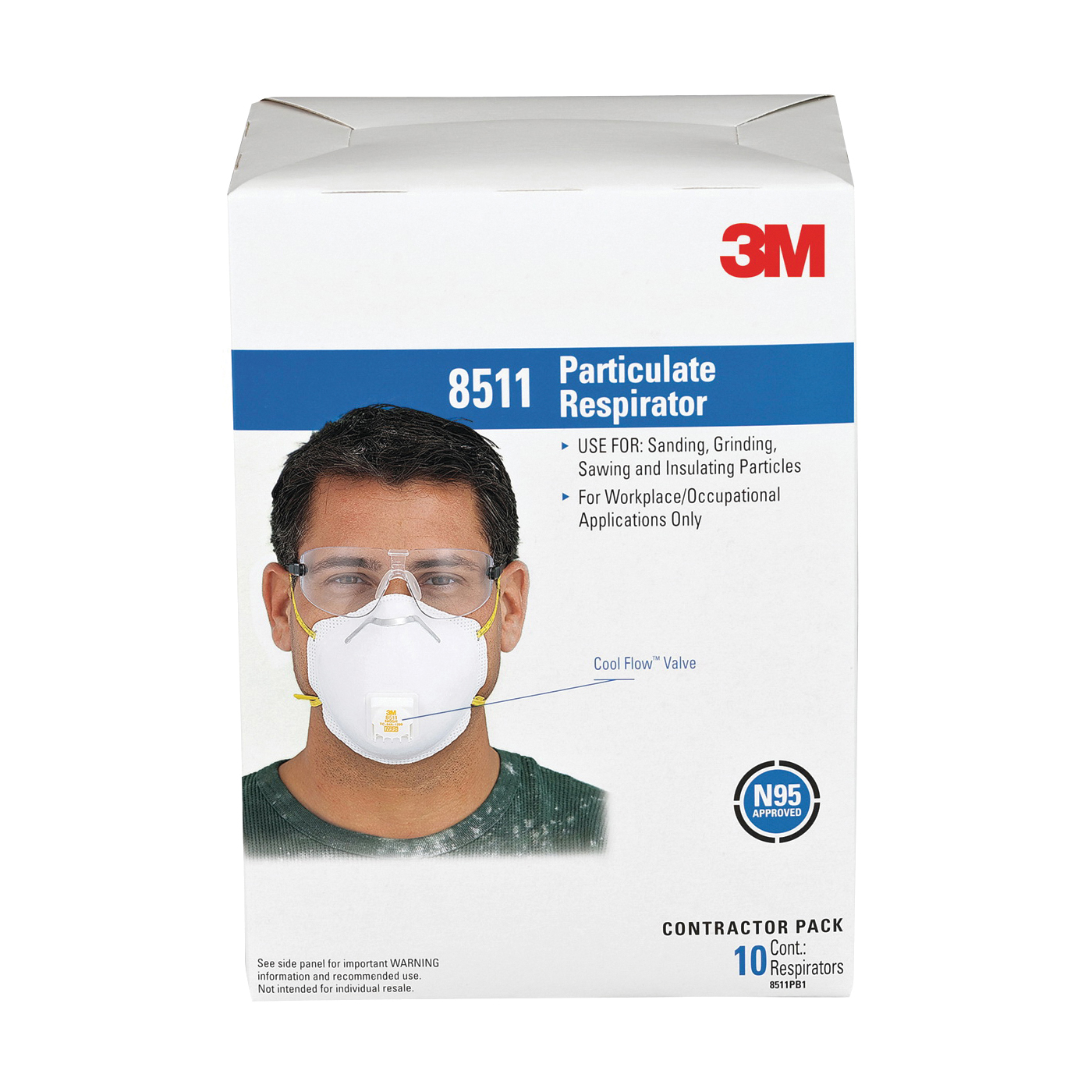 3m 4-pack disposable sanding safety mask